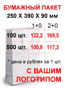Бумажные пакеты с логотипом - производство и печать - Санкт-Петербург