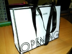 Бумажный пакет с лентами для магазина одежды Opening __1