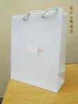 Бумажный пакет на дизайнерском картоне с золотым тиснением